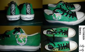 Slytherin Shoes by Cally-wally