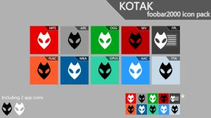Kotak [foobar2000 icon pack] by FlipOut69