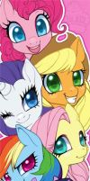 Bookmark: MLPFIM by AjamariesArt