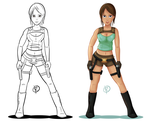Lara Croft by reigneous
