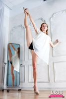 LegsEmporium Heather Standing Splits and a Mirror by LegsEmporium