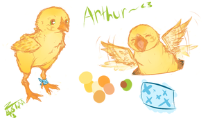 lil chick Arthur by Faustina13
