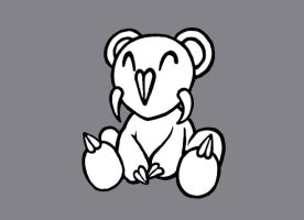 pandabearguy white on grey by TheOnlySarah