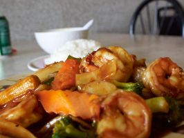 China Inn Test - Shrimp with Garlic Sauce 2 by sakaphotogrfx