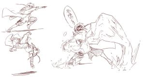 Action Poses by Aogami