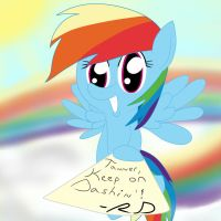 Rainbow Dash Autograph for Tanner by BossLuigi