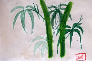 Bamboo- Watercolour by Shinigamichick39