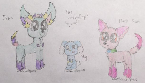 The ScribbaDopt Squad! by Sanstheskelepun10