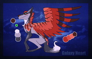 Galaxy Heart -- Hatched Adopt by the3Ss