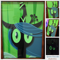 shadow box Queen Chrysalis by robicraft