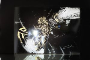 Golden Pulsfire EZREAL Glass Engraving by CanDogan by twombols