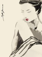 beauty in sumi e style by sefaguerrero