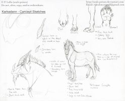 Karkadann - Concept Sketches by soulspoison