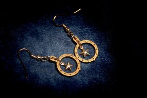 The Stars at Night Earrings by turnerstokens