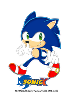 Sonic Other style Colored by TheDarkShadow123