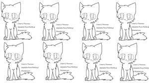 Free Cat Lineart by Poisonous-Adoptables