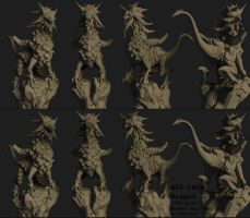 Lava Dragon NormalMap Test by 3DNeksus