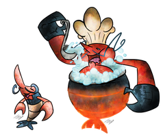 Crawdad Chef Fakemon by T-Reqs