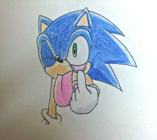 Sonic X Funny sonic face by DanielasDoodles