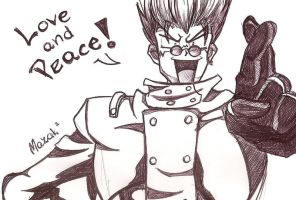 Trigun - LOVE AND PEACE by Mazakdupa
