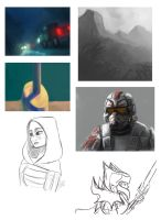 Sketches and speed paints. by Raikoh-illust