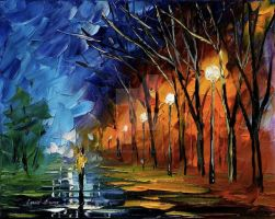 Night by Leonid Afremov by Leonidafremov