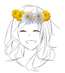 Chrysanthemum Flower Crown by Akiraka-chan
