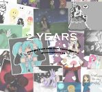 2 Year Anniversary by Drawing-Heart