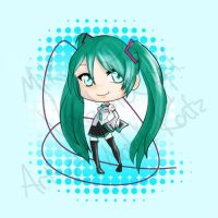Miku Chibi by kiwiberries