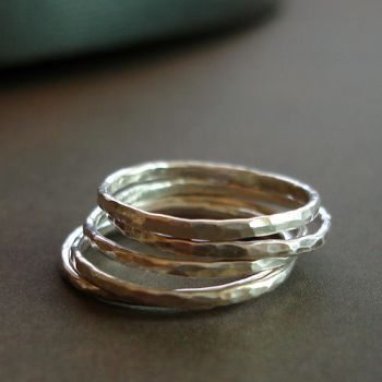 Slim Stacking Rings 5 Stack 1 by PaysonWinters