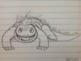 Teen Fygar sketch - 9/7/12 by Jestloo