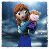 Disney's Frozen: Anna - Meet My Fan by Irishhips