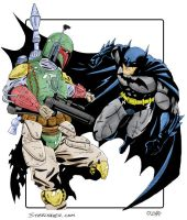 Boba Fett vs Batman by SteelhavenStudio