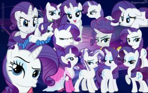 {Wallpaper} ~ Rarity Filled Wallpaper by ShegoxDrakken