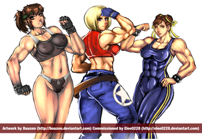 Muscle Girls by Buuzen by elee0228