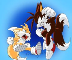 Tails VS Dark Tails by Frankyding90
