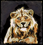 Digital Painting: Goodly Christian the Lion by UkuleleMoon