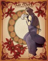 la morte-in art nouveau style- by Ellesun