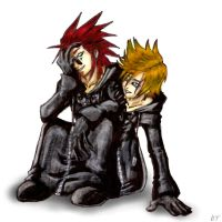 KH2: Axel and Roxas by BeagleTsuin