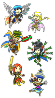 Baten Kaitos chibi stickers by Possumato