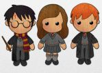 Harry, Hermoine and Ron by BooToo10