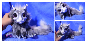 [SOLD] Newborn Gunmetal Drake OOAK Doll by enigmaticworld
