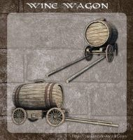 3D Wine Wagon by zememz
