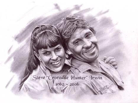 Steve Crocodile Hunter Irwin by superchickenn123