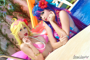 Panty and Stocking bikini version - In Summer by adami-langley