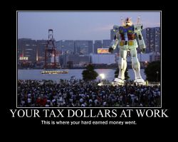 Tax dollars at work poster by SirMeta