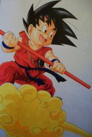 ''Let's Have Some Fun!'' Kid Goku by SakakiTheMastermind