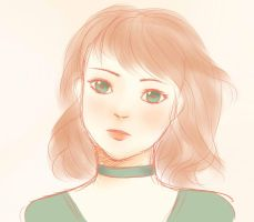 The Girl With the Green Ribbon Around Her Neck by yuri-chan1018
