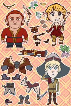 Dragon Age Rogue Stickers by regeener