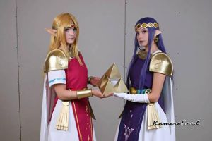 Zelda and hilda- Zelda between worlds by sheliy